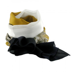 Silk chiffon scarf in the official line