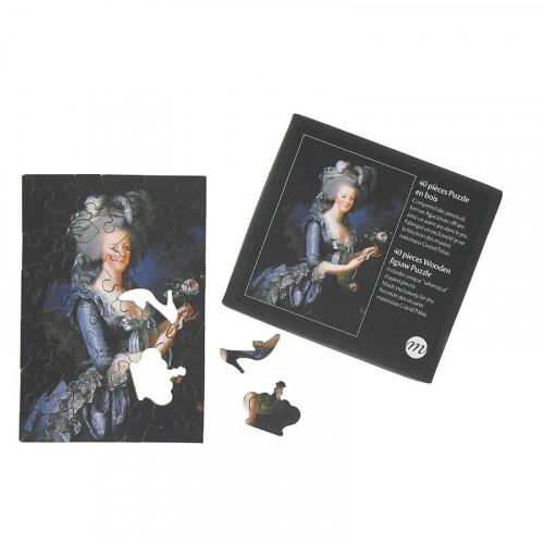 Puzzle en bois : Marie-Antoinette à la rose (40p.)