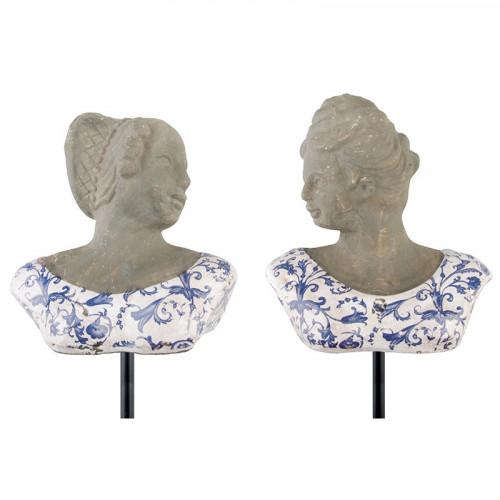 Buste décoratif ligne bleue