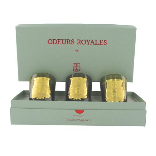 Coffret 3 bougies Odeurs Royales
