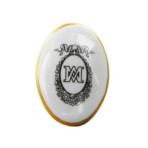 Oval porcelain « Marie-Antoinette » ring