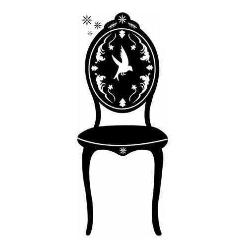 Sticker «Grande Chaise noire»