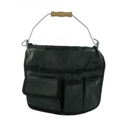 Garden bucket and leather bag