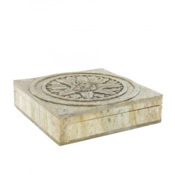 Carved stone box