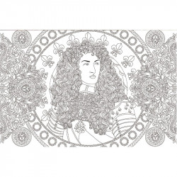 Cahier de coloriages Louis XIV