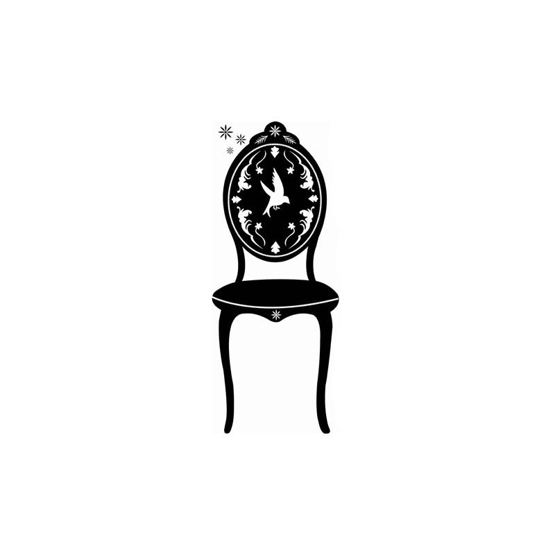 ?Large black chair? sticker