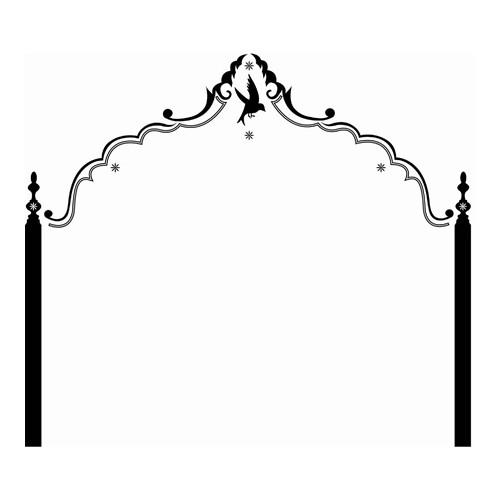 Sticker «Tête de lit» noir