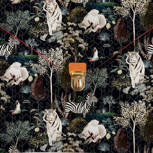 Pochette foncée grand format - ligne Ménagerie Royale