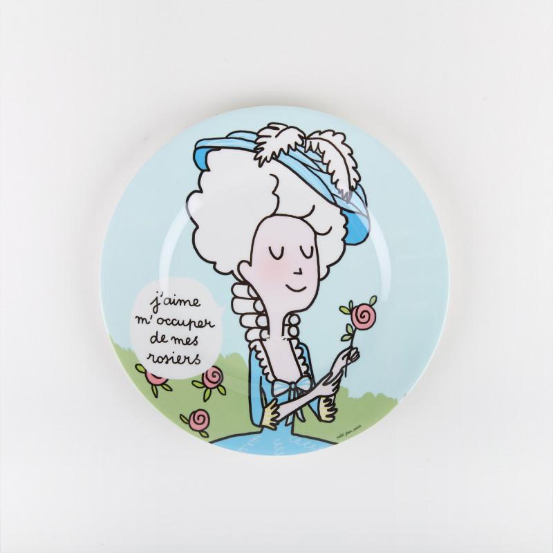 Plate Marie-Antoinette Rosebush