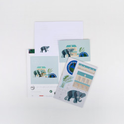 Pop out card King's Menagerie - Elephant