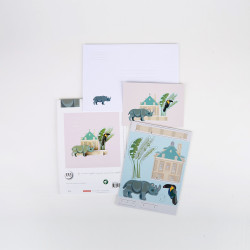 Pop out card King's Menagerie - Rhinoceros
