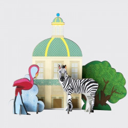 Pop out card King's Menagerie - Zebra