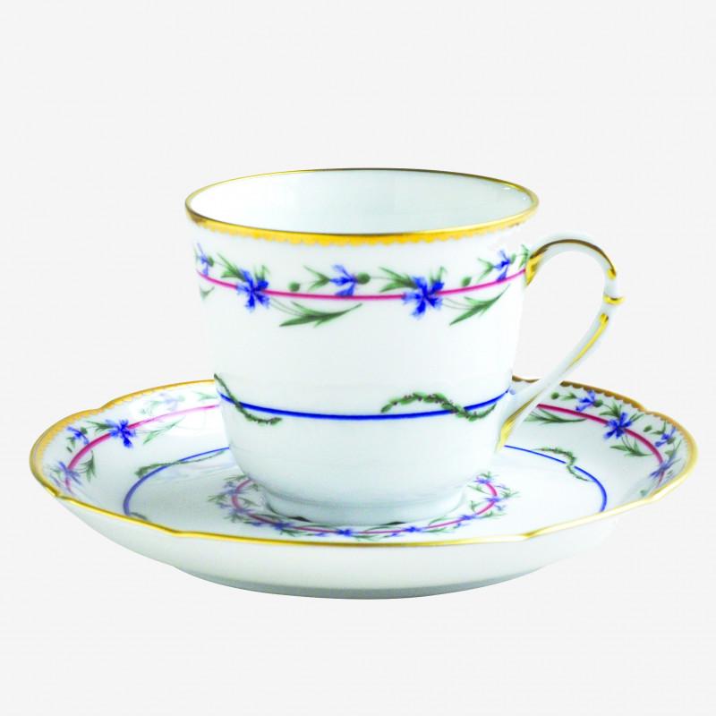 Tasse et soucoupe à café - Le Gobelet du Roy