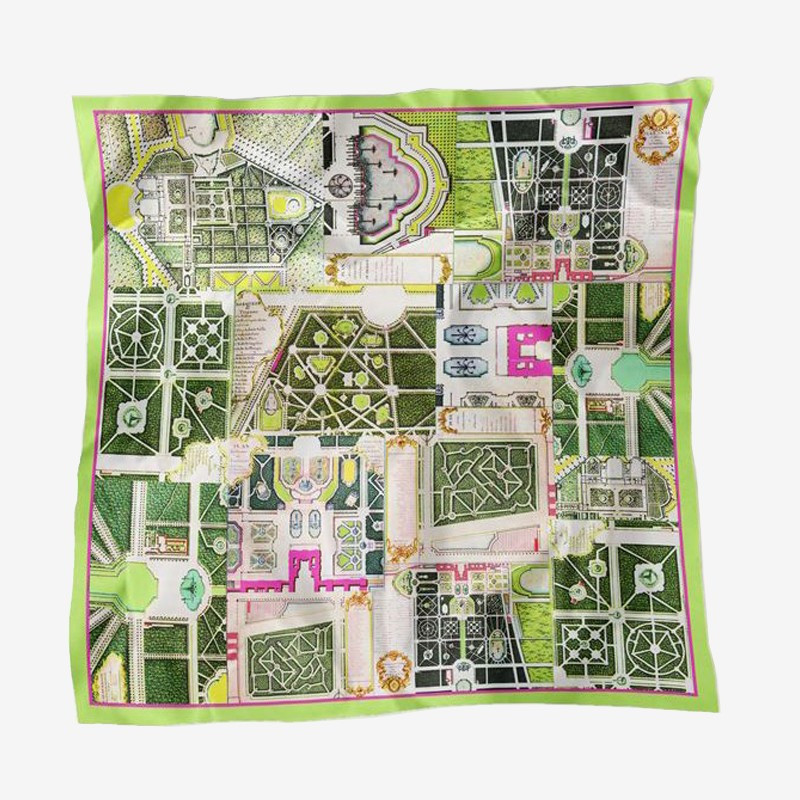 Silk square scarf Gardens of Versailles