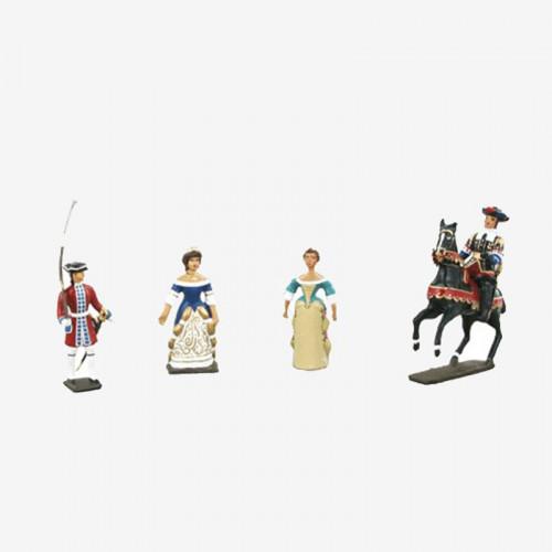 Coffret figurines de Plomb «Louis XIV»