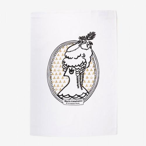"""""""Marie-Antoinette"""" tea towel - La Cocotte line"""