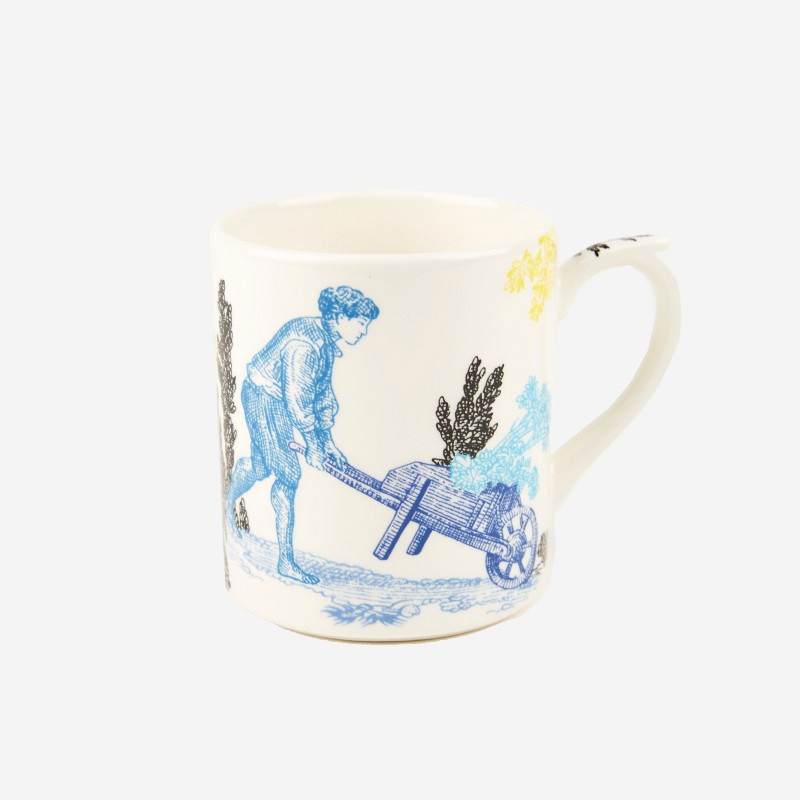 "Mug Toile de Jouy ""The Delights of the Four Seasons"""