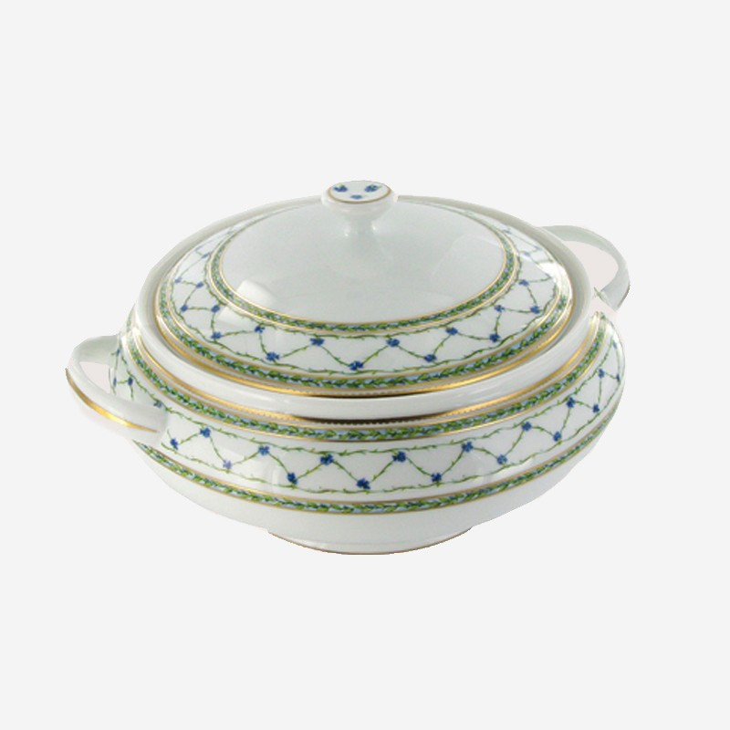 ?King?s Way? (Allée du Roy) porcelain soup tureen