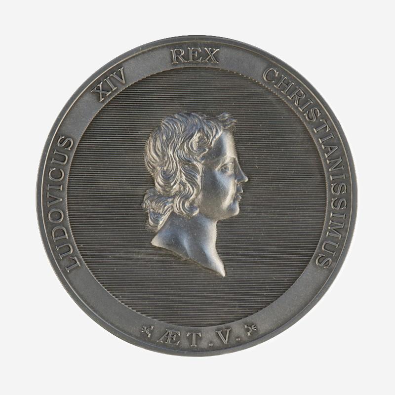 """Portrait of Louis XIV at 5"" medal"