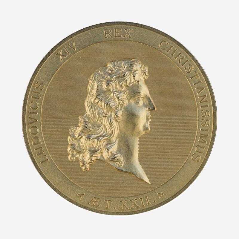 """Médaille """"Portrait de Louis XIV à 22 ans"""""""