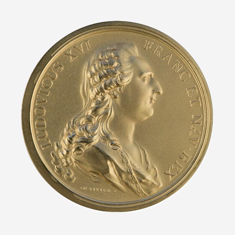 """Médaille """"Louis XV et Marie-Antoinette"""""""