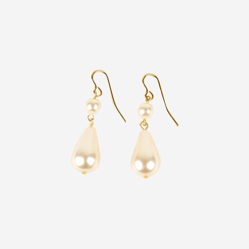 """""""Les perles de la Reine"""" - Boucles d'oreilles articulées"""
