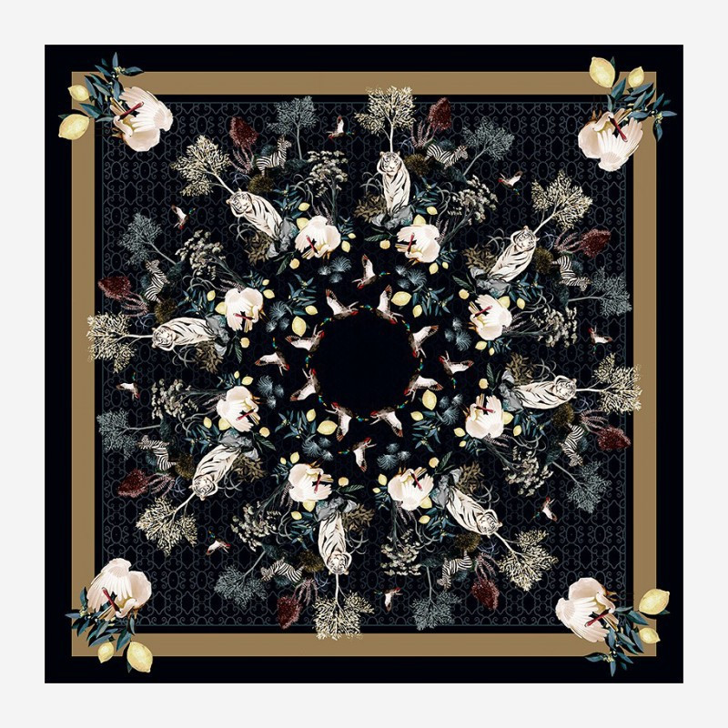 "Scarf ""Royal Menagerie"" Dark"