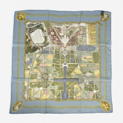 Silk square scarf Plans of Versailles