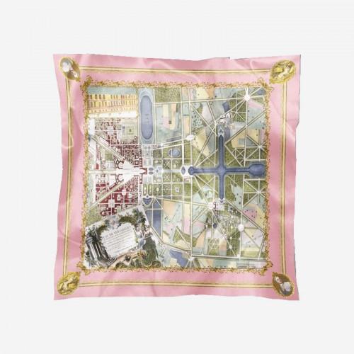 Carré de soie Plans de Versailles