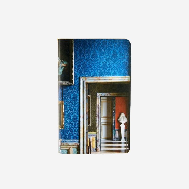 Carnet enfilade des salles Louis XIV bleu