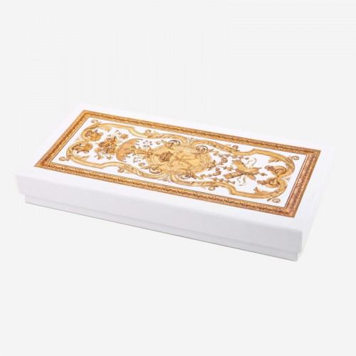 """Versailles Palace"" writing box - golden feather"