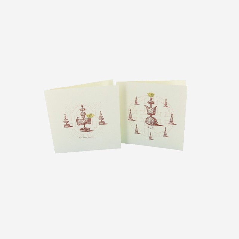 Topiaries line greeting card