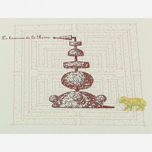 Carte double ligne Topiaires - coloris : le hameau de la reine