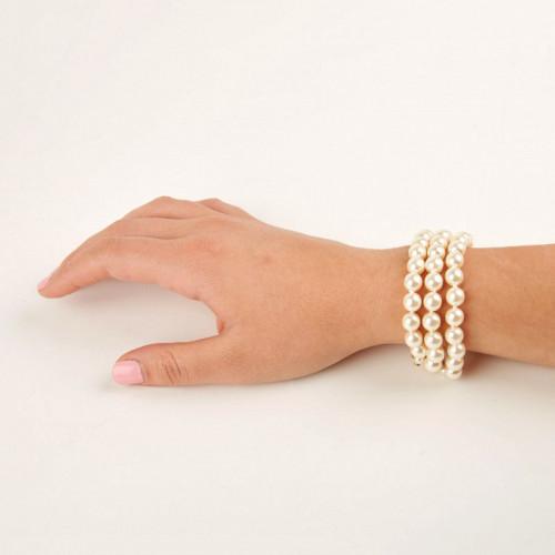 """Bracelet ivoire 3 rangs - """"Les perles de la Reine"""""""