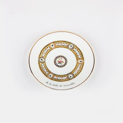 """Assiette à canapés """"À la Table de Versailles"""" - or"""