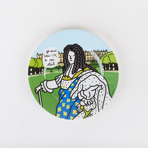 Plate Louis XIV, Sun King
