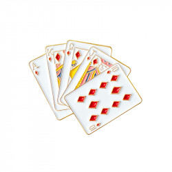 "Play cards Pin's ""Bonjour..."