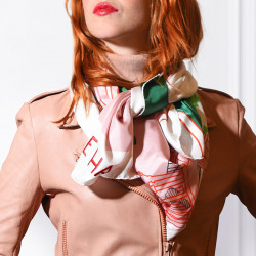 The Queen's Hamlet silk scarf